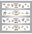 Set of web banners with autumn vector image vector image