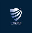 shield logo design concept for business company vector image
