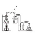 sketch silhouette of scene chemical laboratory vector image