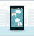 smartphone and chat vector image