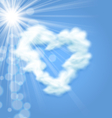 Sun Fluffy Cloud Shape Heart Love Symbol