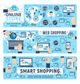web shopping e-commerce infographics vector image