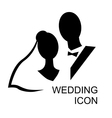 wedding icon vector image vector image