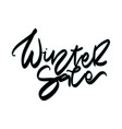 winter sale sale hand lettering design vector image
