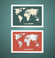 World Map Set vector image vector image