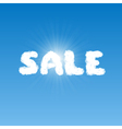 Sale shape clouds vector image