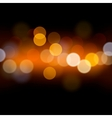 Abstract festive background with defocused lights vector image
