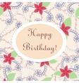 Happy birthday vintage card vector image
