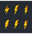 Lightning icons vector image