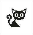 cat - pixel design vector image