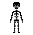 skeletone icon black sign on vector image