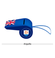 A Beautiful Blue Whistle of Anguilla Flag vector image vector image
