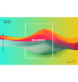 abstract colorful dynamic wave background vector image