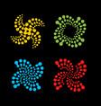 abstract logo set logo set colorful logo vector image