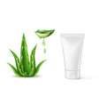Aloe vera realistic cosmetic spray tube ad
