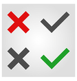 approved and rejected icon in flat style vector image