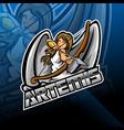 artemis esport mascot logo design vector image vector image