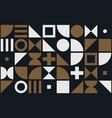 bauhaus art simple shape pattern background vector image vector image