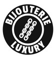 bijouterie luxury logo simple black style vector image vector image