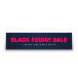 Black friday sale 3d banner typographic bright