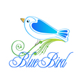 Blue bird logo vector image
