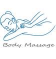 body massage logo isolated on white background vector image