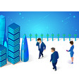business people walking at futuristic town street vector image
