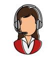 call center receptionist avatar vector image