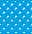 car protection pattern seamless blue vector image