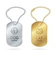 Cat Dog Animal Tags or Medallion vector image