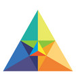 chromatic triangle vector image vector image