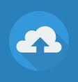 Cloud Computing Flat Icon Upload vector image vector image