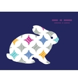colorful marble textured tiles bunny rabbit vector image vector image