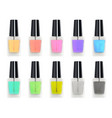 colorful nail polisher glass bottle vector image