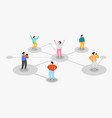 connecting people social network concept refer a vector image vector image