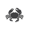 crab design on white background vector image