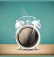 cup coffee in form alarm clock vector image