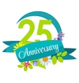 Cute Nature Flower Template 25 Years Anniversary vector image vector image