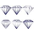 diamond symbols set vector image vector image