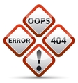 error 404 warning sign vector image vector image