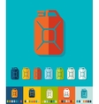 Flat design jerrycan vector image vector image