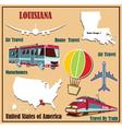 Flat map of Louisiana vector image