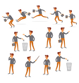 Flat people icons situations web infographic set vector image vector image