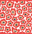 flowers hand drawn seamless color pattern vector image