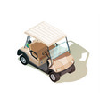 golf cart isometric composition vector image vector image