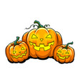 halloween pumpkin pop art vector image