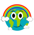 happy earth emote earth day vector image