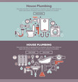 house plumbing homepage mockup vector image vector image