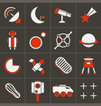 Icons space in flat style color set 2 vector image vector image