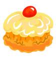 jewish sweer cake icon cartoon style vector image vector image